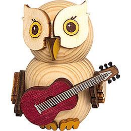 Mini-Eule mit Gitarre - 7 cm