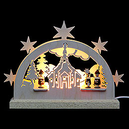Mini LED Lightarch - Seiffen Church - 23x15x4,5 cm / 9x6x2 inch