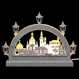Mini-LED-Schwibbogen Dresden - 23x15x4,5 cm