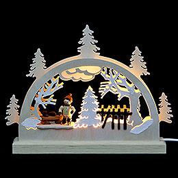 Mini-LED-Schwibbogen Schlittschuhläufer - 23x15x4,5 cm