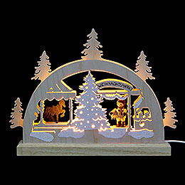 Mini Lightarch - Christmas Fair - 23x15x4,5 cm / 9x6x2 inch