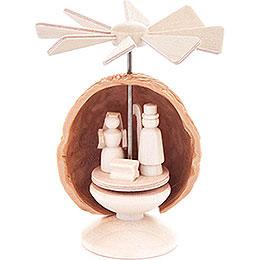Mini-Nusswärmespiel mit Christi Geburt - 5,5 cm