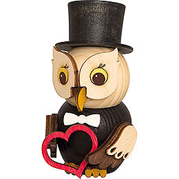 Mini Owl Bridegroom - 7 cm / 2.8 inch