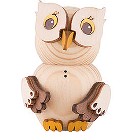 Mini Owl Natural Wood - 7 cm / 2.8 inch