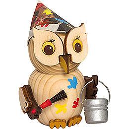 Mini Owl Painter - 7 cm / 2.8 inch