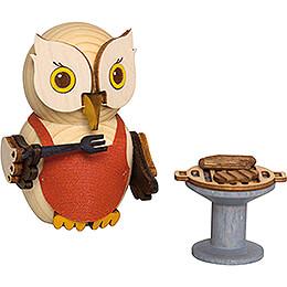 Mini Owl with BBQ - 7 cm / 2.8 inch