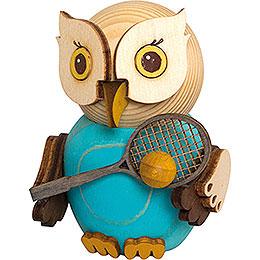 Mini Owl with Tennis Racket - 7 cm / 2.8 inch