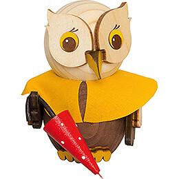 Mini Owl with Umbrella - 7 cm / 2.8 inch