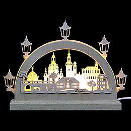 Mini-Schwibbogen Dresden - 23x15x4,5 cm