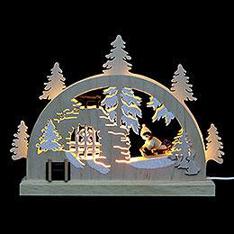Mini-Schwibbogen Winterlandschaft - 23x15x4,5 cm