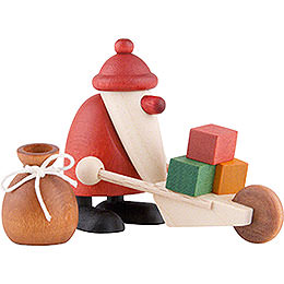 Miniature Set - Santa Claus with Wheelbarrow - 4 cm / 1.6 inch