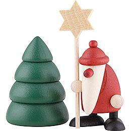 Miniaturen-Set Weihnachtsmann mit Stern - 4 cm