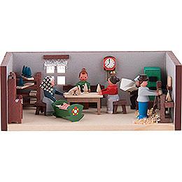 Miniaturstübchen Spielzeugmacherstube - 4 cm