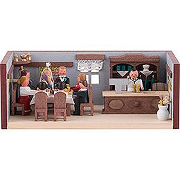 Miniaturstübchen Hochzeitsstube - 4 cm