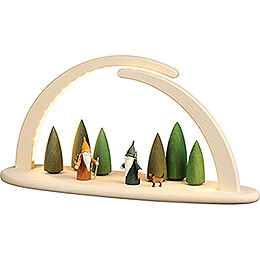 Modern Light Arch - Forest Scene - 42x21 cm / 16.5x8.3 inch