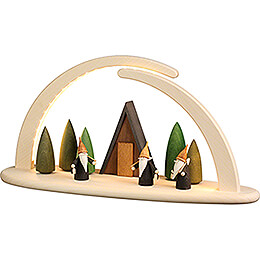 Modern Light Arch - Mountain Gnome - 42x21 cm / 16.5x8.3 inch