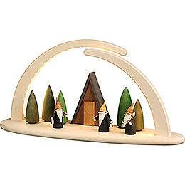 Modern Light Arch - Mountain Gnome - 42x21 cm / 16.5x8.3 inch