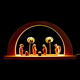 Modern Light Arch - Nativity - Colored - 26x49 cm / 10.2x19.3 inch