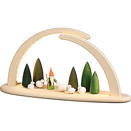 Modern Light Arch - Shepherd Gnome - 42x21 cm / 16.5x8.3 inch