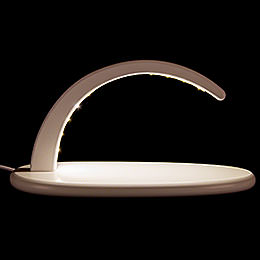 Modern Light Arch with LED - without Figurines - - white - 24x13 cm / 9.4x5.1 inch