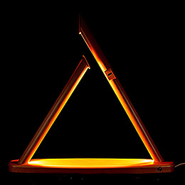 Moderne Lichterspitze unbestückt natur - 50x47 cm