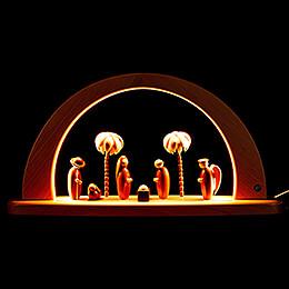 Moderner Lichterbogen Christi Geburt - natur - 26x49 cm