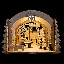 Motive Light - Diorama Castle Christmas - 19 cm / 7.5 inch