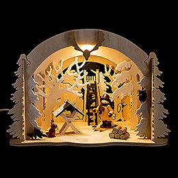 Motive Light - Diorama Wild Animal Feeding - 19 cm / 7.5 inch