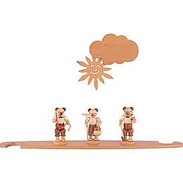 Motivplattform Bären natur für Moderne Lichterspitze - 49x12 cm