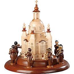 Motivplattform für elektr. Spieldose - Blechbläserensemble an der Frauenkirche - 15 cm