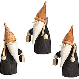 Mountain Gnome - 3 pieces - 7 cm / 2.8 inch