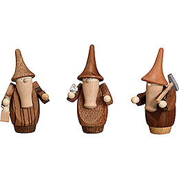 Mountain Gnomes, Set of Three - 8 cm / 3.1 inch