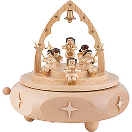 Music Box - Angel Concert - Natural - 15 cm / 5.9 inch