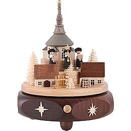 Music Box Seiffen Village with Carolers - 17 cm / 7 inch