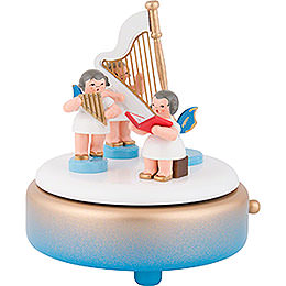 Music Box with Angels and Harp - 14 cm / 5.5 inch