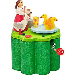 Music Box with Crank Duck Liesel - 7 cm / 2.8 inch