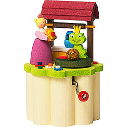 Music Box with Crank - Frog King - 8,5 cm / 3.3 inch