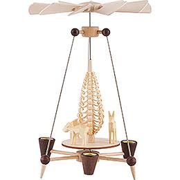 Nadelpyramide mit Rehen - 26 cm