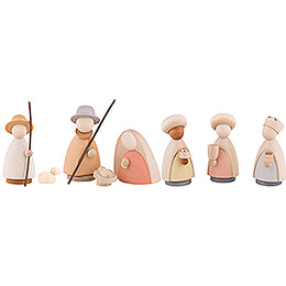 Nativity Set of 8 Pieces Colored - Large - 10,0 cm / 4.0 inch