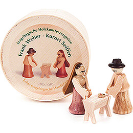 Nativity in Wood Chip Box - 3 cm / 1.2 inch