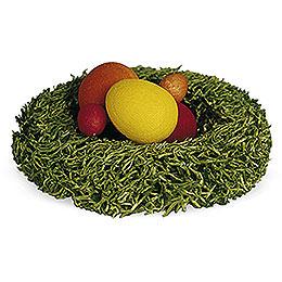 Nest mit Ostereiern - 1 cm