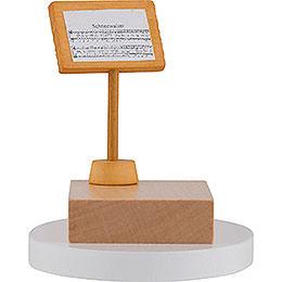 Notenpult für Schneemann-Dirigent - 7 cm
