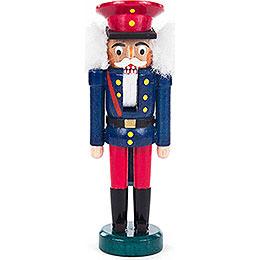 Nussknacker Eisenbahner blau-rot - 14 cm