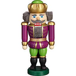 Nussknacker Exklusiv König purpur-grün - 20 cm