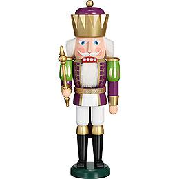 Nussknacker Exklusiv König purpur-weiß - 40 cm