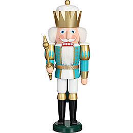 Nussknacker Exklusiv König türkis-weiß - 40 cm