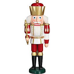 Nussknacker Exklusiv König weiß-rot - 40 cm