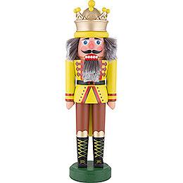 Nussknacker König mit Krone gelbgrün matt - 43 cm