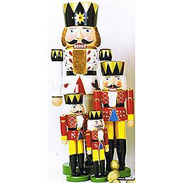 Nussknacker König rot - 90 cm