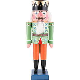 Nussknacker König grün - 36 cm